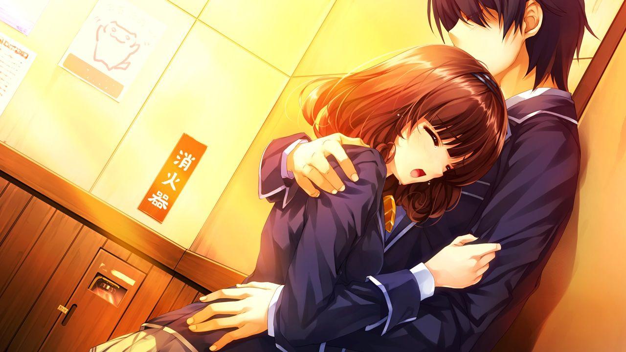 Anime Characters Hugging : Manga couples sad couple anime boy cute girl
