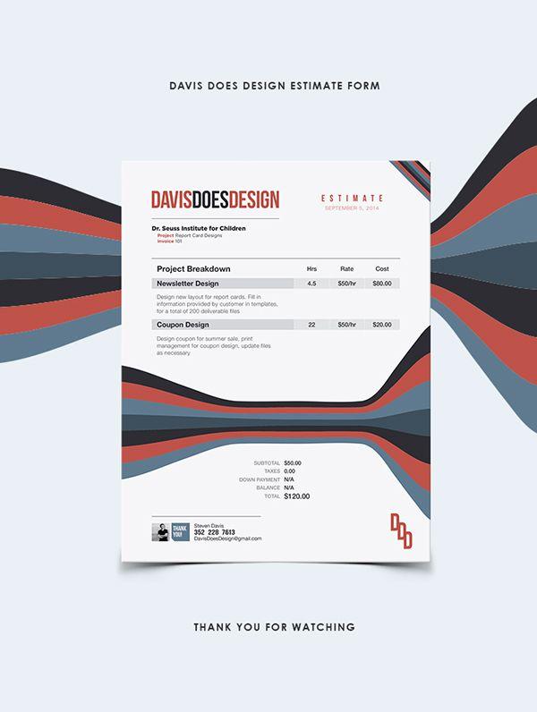 Estimate\/Invoice Form by Steven Davis, via Behance Design - invoice logo