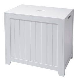 Panier A Linge Blanc Trial Linges Blancs Panier Et Accessoires De Decoration D Interieur