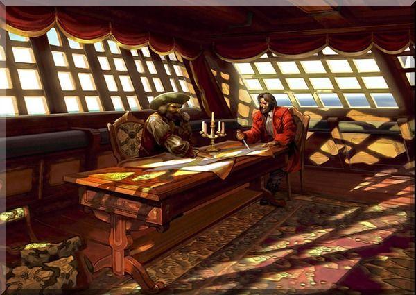 Captain S Quarters Pirate Pirates Sailing Ships Ship