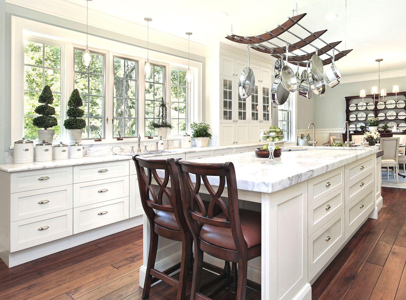 White Kitchen Cabinets Liquidators Furnished With Hanging Pot Rack Kitchen Remodel Modern Shaker Kitchen Shaker Kitchen Cabinets