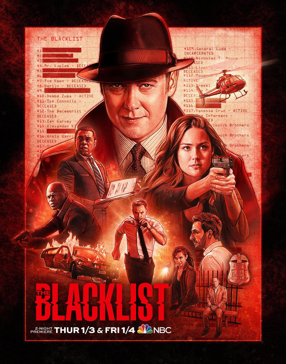 The Blacklist The Blacklist Keys Art Montage Movie
