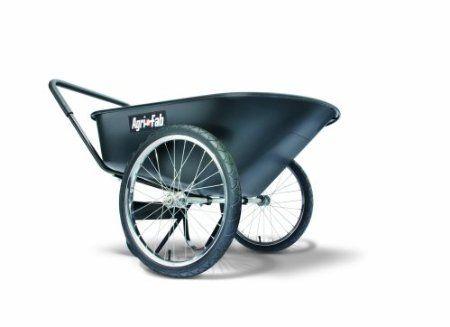 Agri Fab 45 0226 6 Cubic Feet Poly Garden Cart Push Black Garden Cart Garden Wheelbarrow
