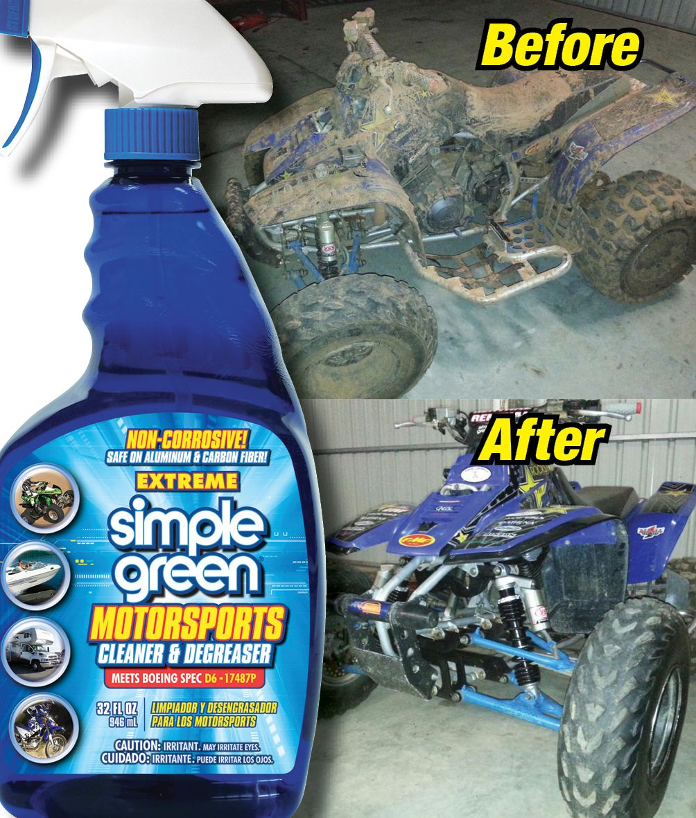 Cleaning A Quad Bike With Extreme Simple Green Motorsports Cleaner Degreaser Degreasers Dish Soap Bottle Cleaning