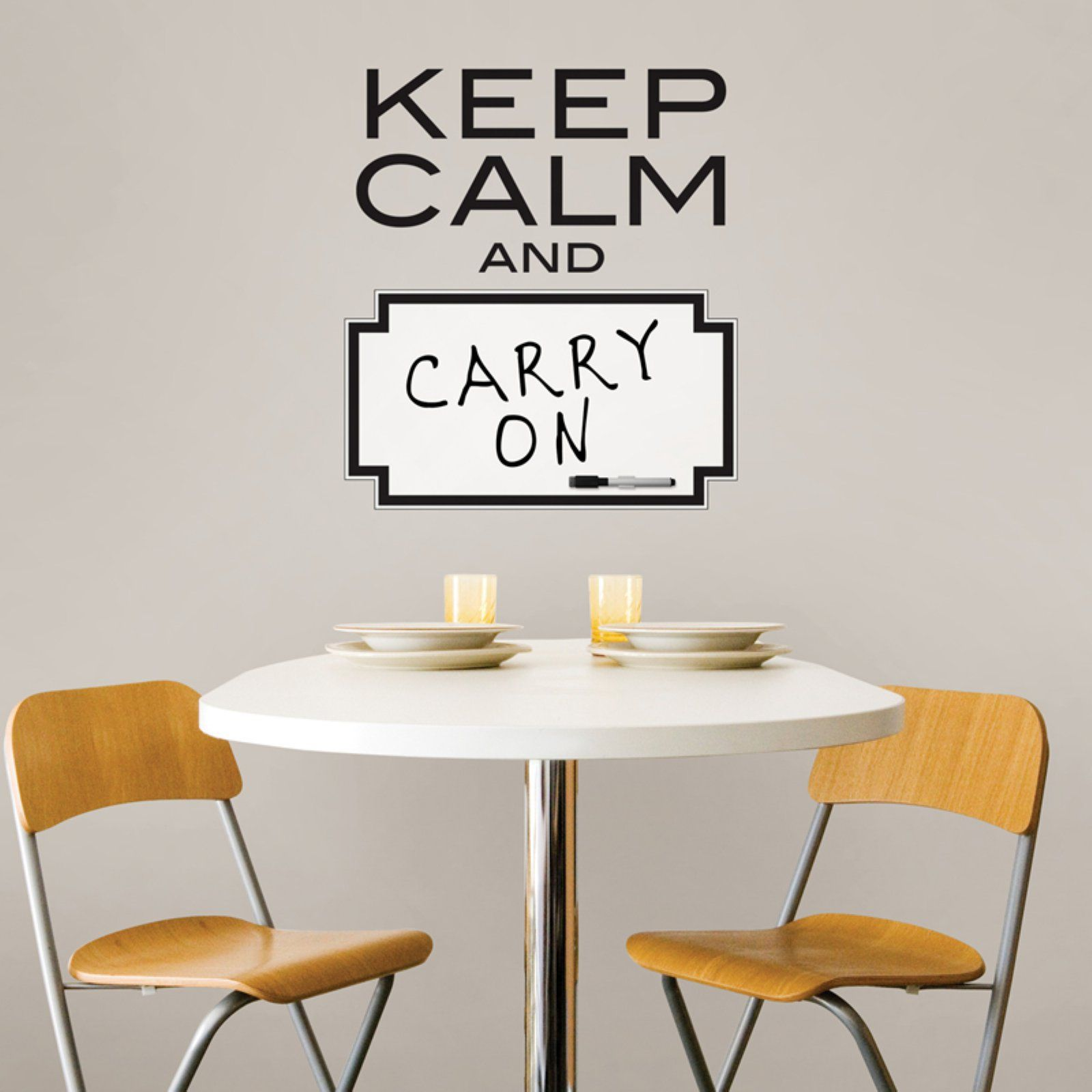 Wall Pops Keep Calm Dry Erase Quote Wall Decals Dry Erase Wall