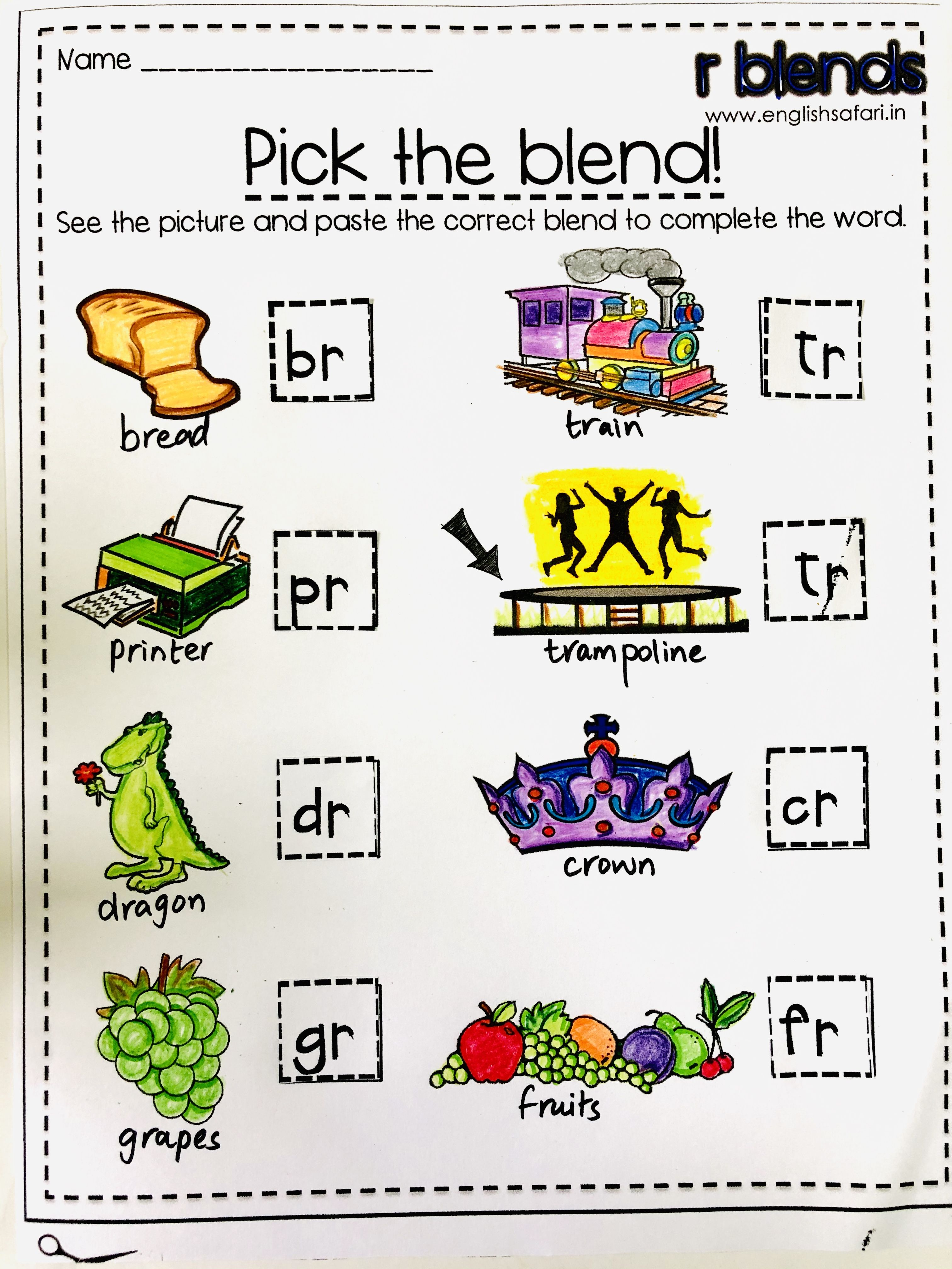 medium resolution of FREE** consonant r-blends blend sort worksheet   Blends worksheets