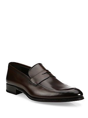 To Boot New York Frances Leather Penny Loafers