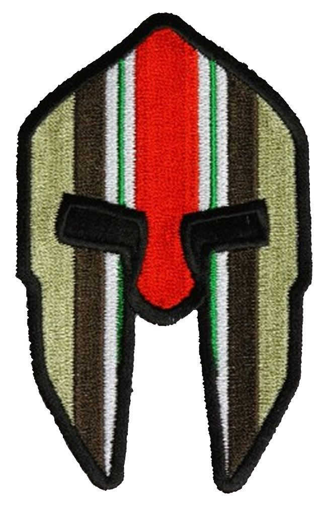 SPARTAN HELMET WITH IRAQI FREEDOM OIF RIBBON Patch SPARTAN HELMET WITH  IRAQI FREEDOM OIF RIBBON Patch  5287CP  -  8.00   Hat n Patch ba4e89984bf