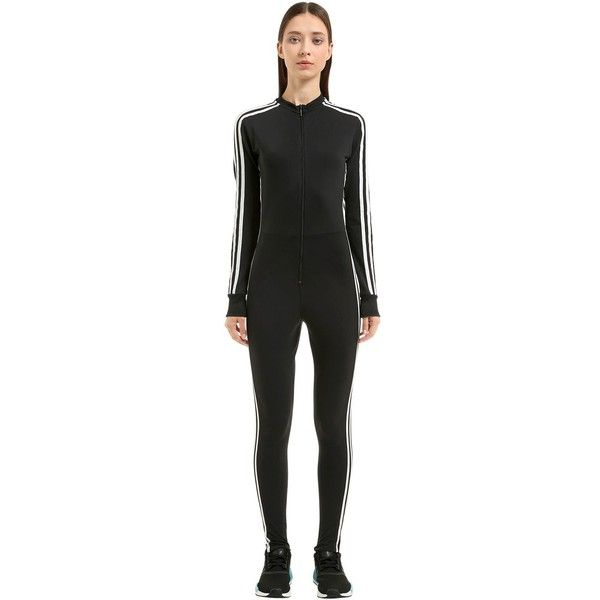 7c5d4820a882 Adidas Originals Women Stage 3 Stripes Tricot Jumpsuit ( 130) ❤ liked on  Polyvore featuring jumpsuits