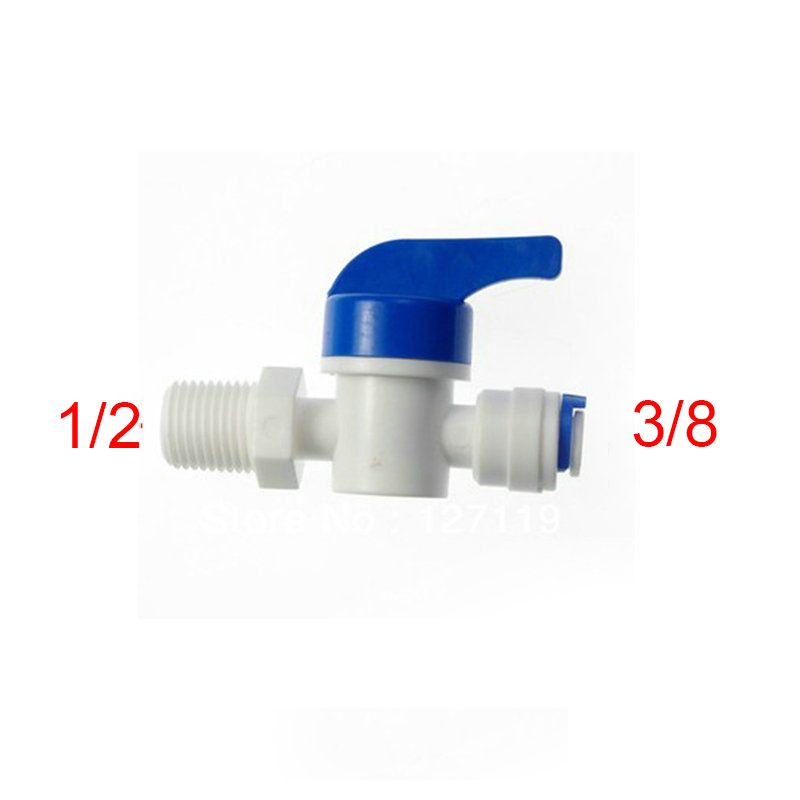 4PT Male Threaded Ball Valve x 10 mm Barb Brass Mini Ball 1 180 Degree Operation Handle 6 Pieces