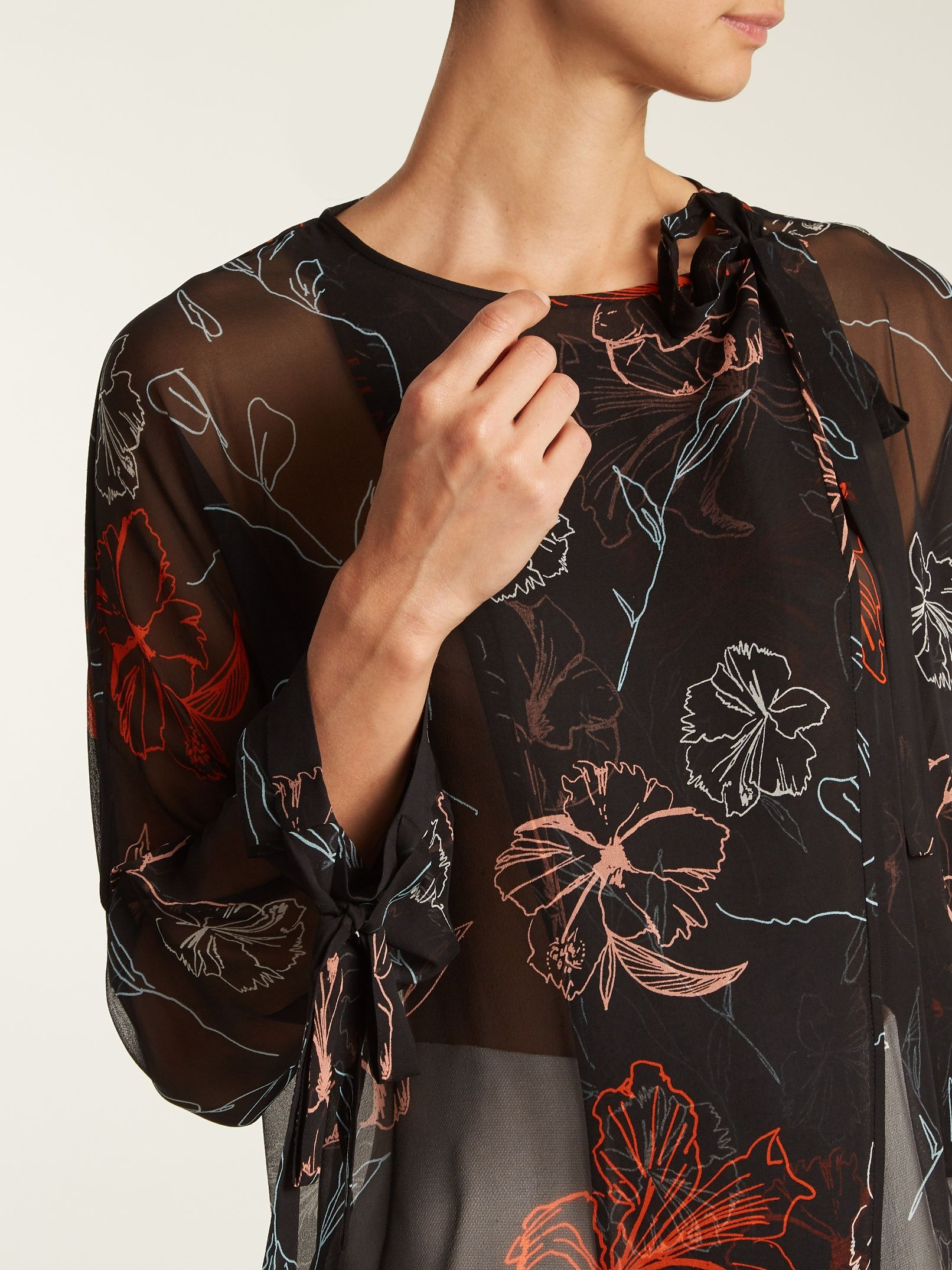 100% Authentic Sale Online Fenelon-print neck-tie silk blouse Diane Von Fürstenberg Free Shipping Cheap Natural And Freely iDfuU1IpxZ