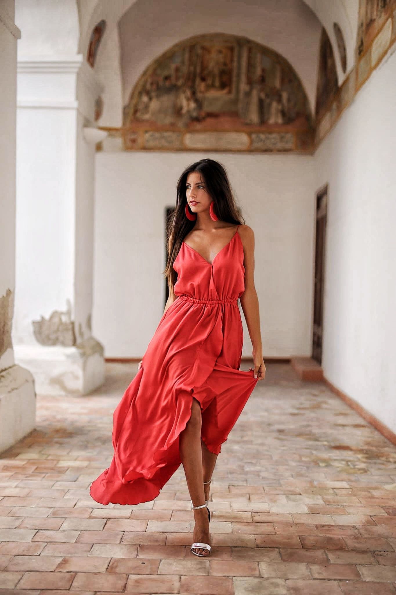 Red Dress Collection Agua na Boca by Daniela Poggi #fashionshow #danielapoggi #modelsrunway #italy #boholuxe