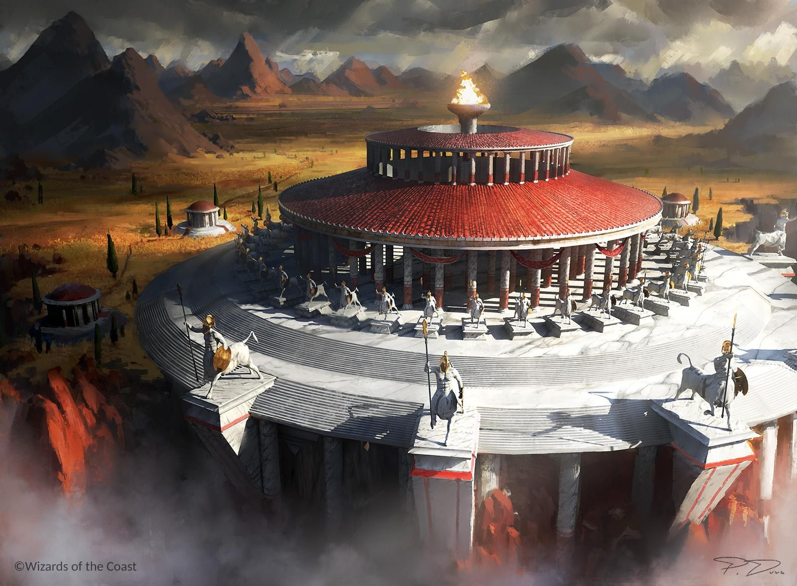 Mtg Temple of triumph by PiotrDura on DeviantArt in 2020