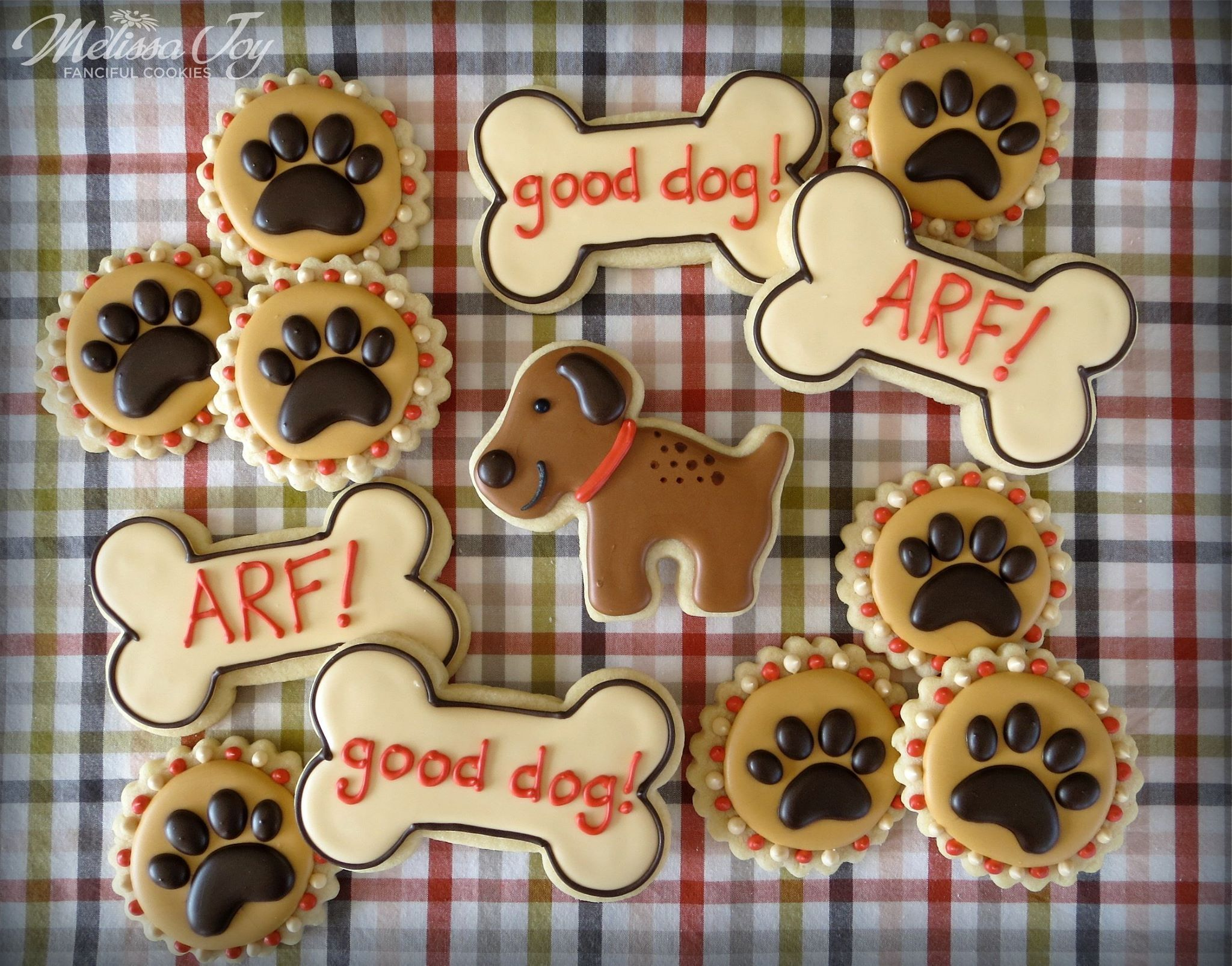 Dogs Paws Bones By Melissa Joy Fanciful Cookies More