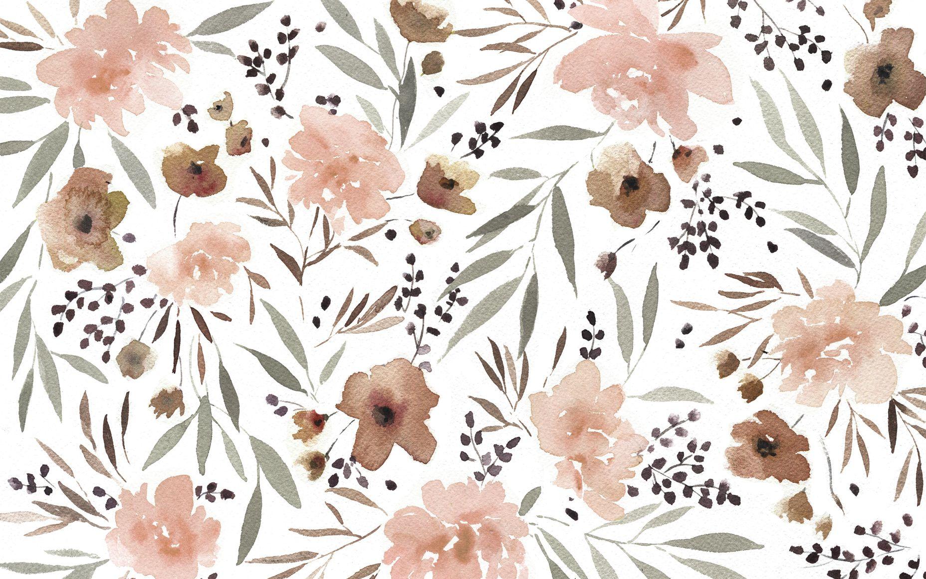 kelli murray florals wallpaper
