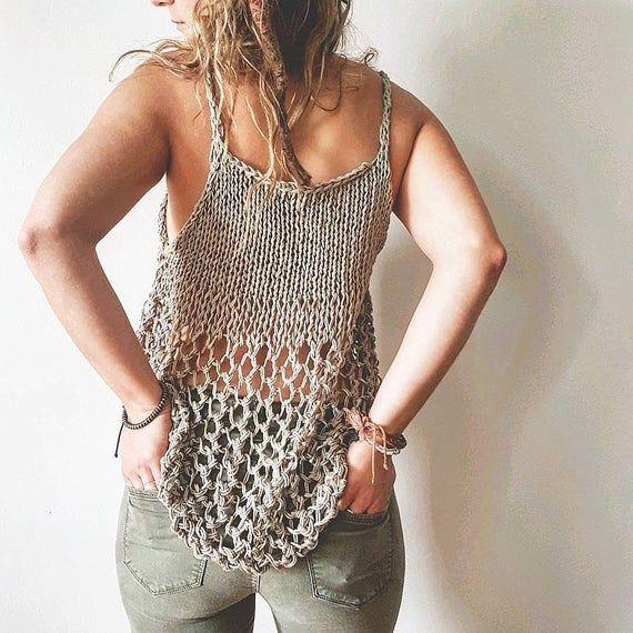 Knit Pattern for the Rustik Lace Tank Top - Easy Knitting Pattern,  Tank Top Pattern, DIY Tank Top Pattern, Knit Pattern #knittedtanktop