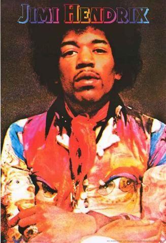 Mick Jagger//Jimi Hendrix 24x36 inch rolled wall poster