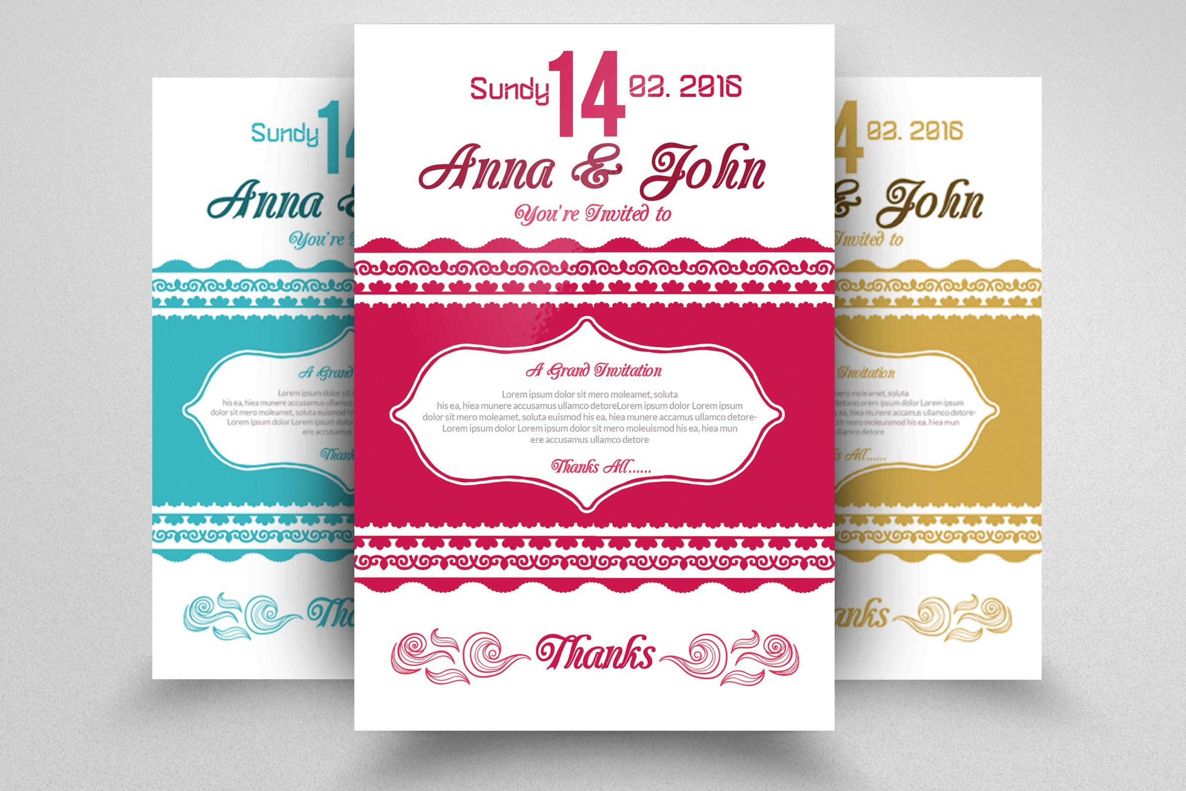 simple invitation cardpsd templates on creativemarket