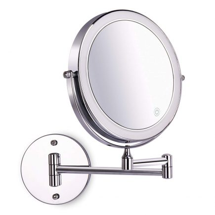 Amelar Wall Mounted Lighted Makeup Mirror In 2020 Makeup Mirror With Lights Wall Mounted Makeup Mirror Wall Mounted Lighted Makeup Mirror