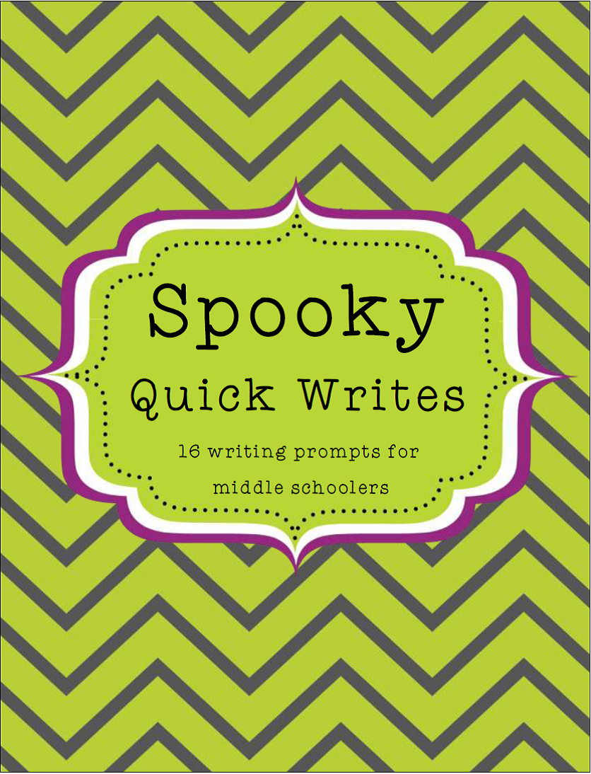 Halloween- Spooky Quick Writes for Middle Schoolers | Story ...
