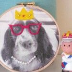 Pet Portrait -  embroidery hoop art