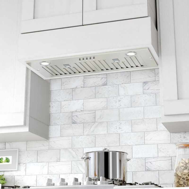 30 Brillia 550 Cfm Ducted Insert Range Hood In Stainless Steel In 2021 Range Hood Farmhouse Sink Kitchen Kitchen Vent Hood