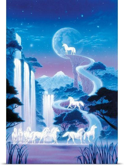 White Unicorn Falls by Robin Coni