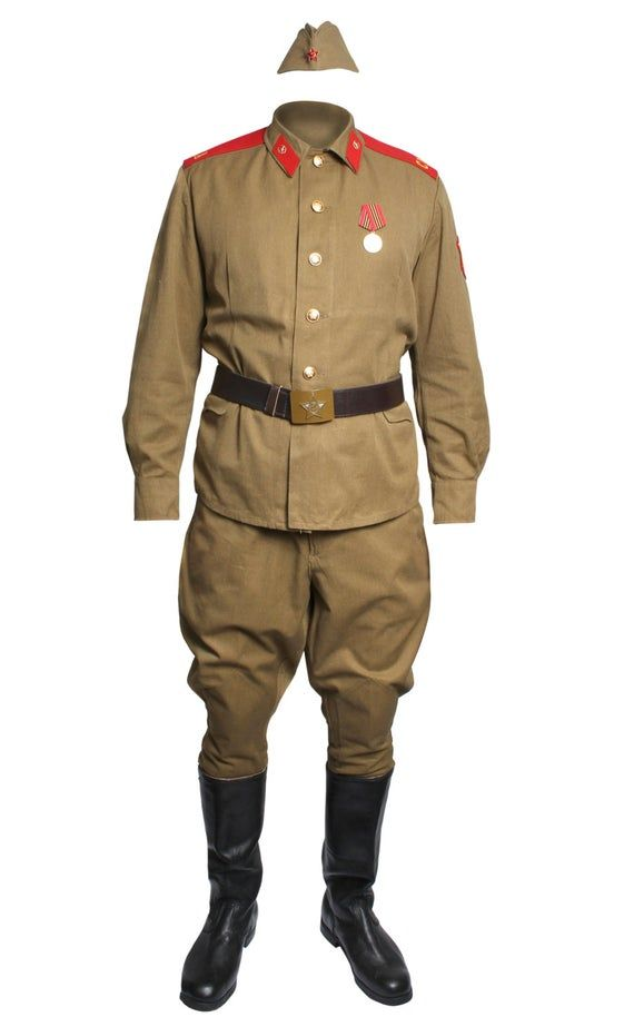 Soviet Army Soldier Khaki Military Uniform M69 Russian Field Suit In 2021 Military Uniform Military Suit Soviet Army