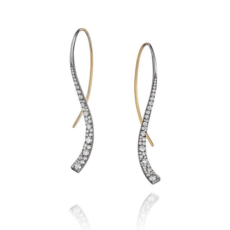 Hand Forged Diamond Set Blackened Gold Celestial Earrings By Mccaul Goldsmiths The New And Modern Designers Who Are Re Vamping Face Of Irish J