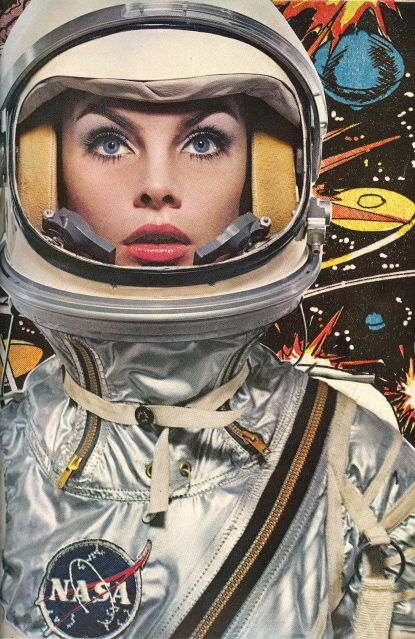 astronaut, 60s, fashion, vintage future