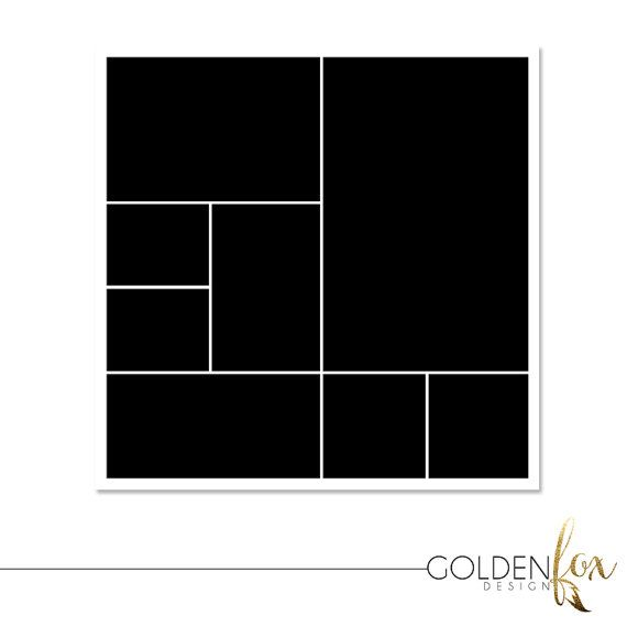 12 x 12 Storyboard Template, Photo Collage Template, Photographer ...