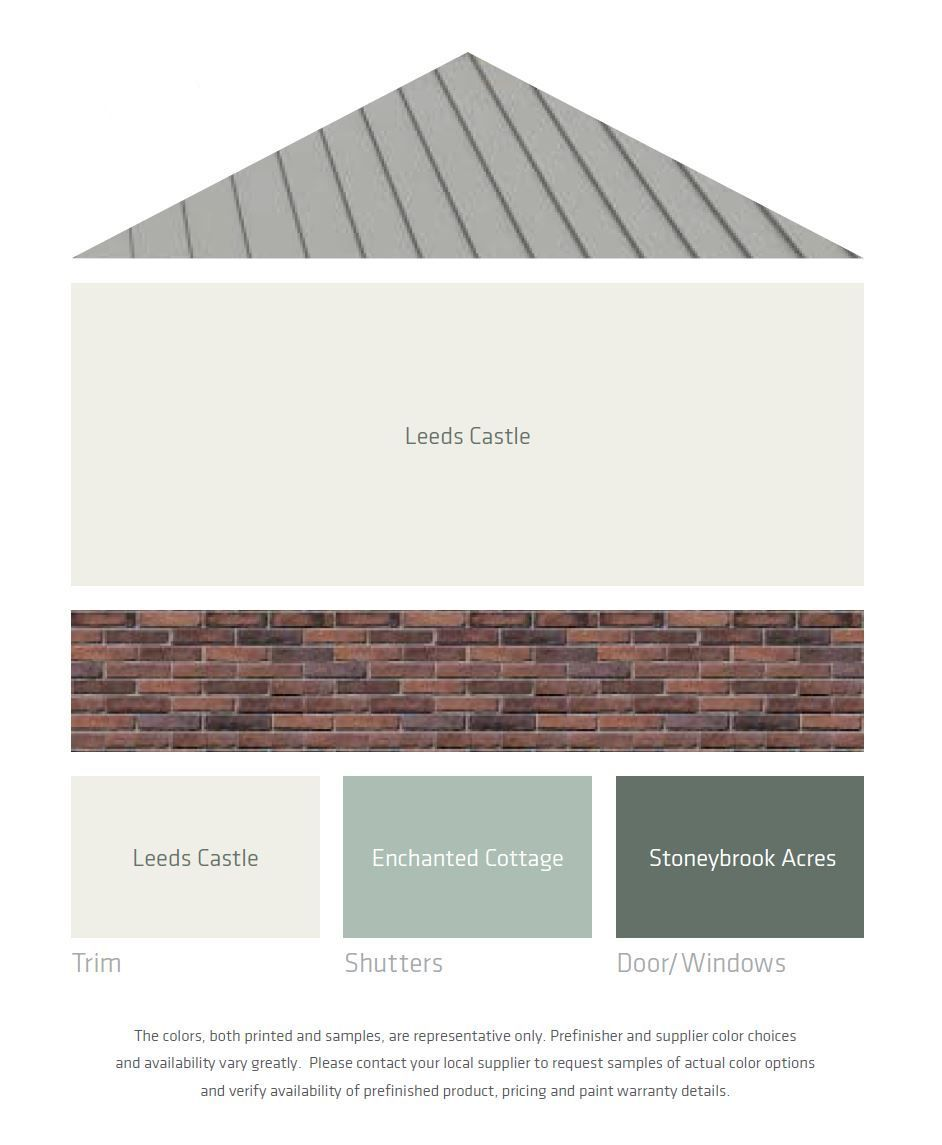 Fresh Color Palettes For A Gray Or Black Roof House