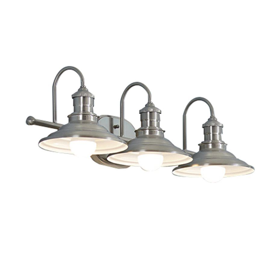 Allen  Roth 3Light Hainsbrook Bathroom Vanity Light Traditional Custom Industrial Bathroom Light Fixtures Design Ideas