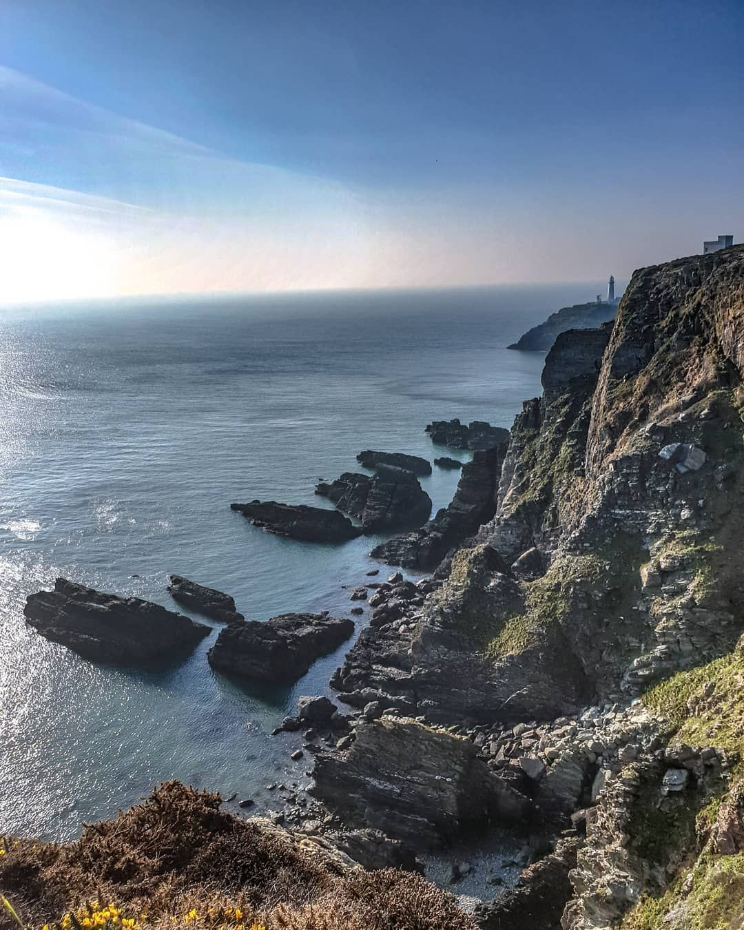 Quick pic at South Stack North Wales. #sea #sky #lighthouse #rock #cliff #picoftheday #blue #green  Quick pic at South Stack North Wales.  #sea #sky #lighthouse #rock #cliff #picoftheday #blue #green #amazing #awesome #outdoors #water #sun #photography #travel #views #cool #life #northwales