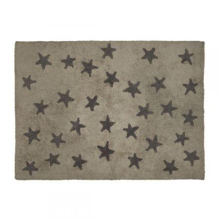 Alfombra Lavable Lorena Canals Linen Stars Grey