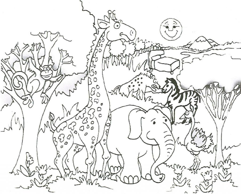Free Printable Giraffe Coloring Pages For Kids  Zoo animal