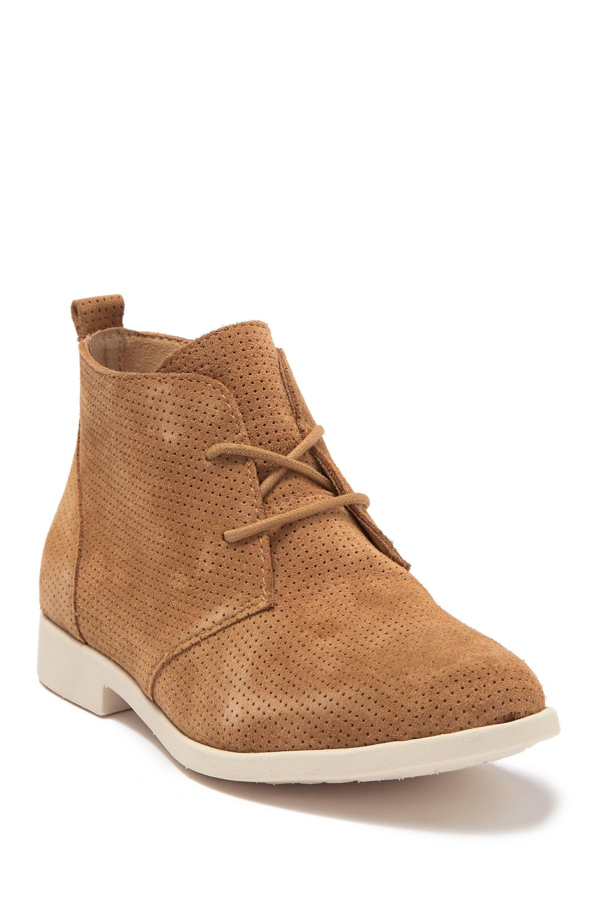 bazu perforated suede chukka boot