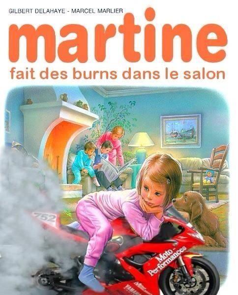 Martine fait des burns motardes pinterest for Moto dans le salon