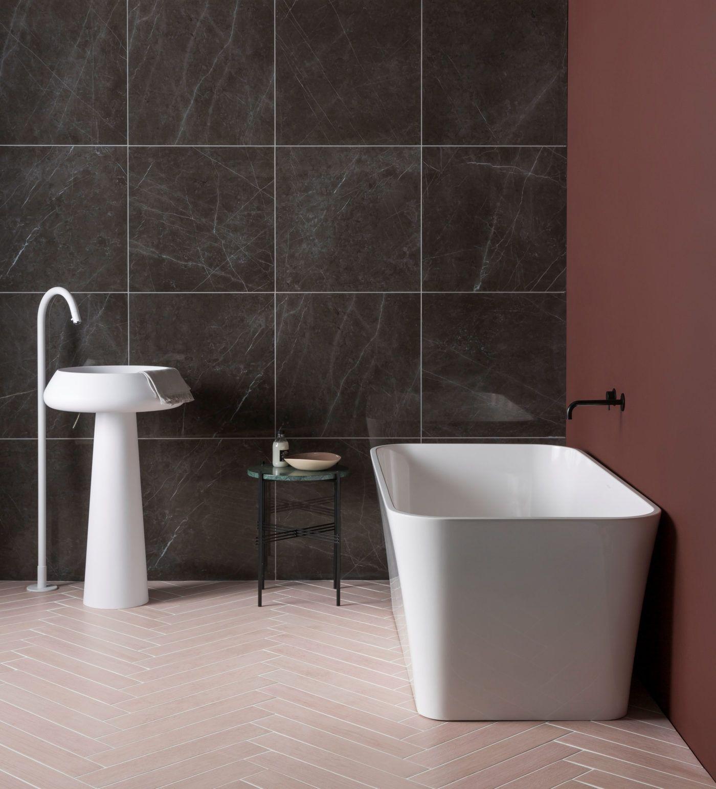 Metropole Pink Porcelain Tiles - Mandarin Stone