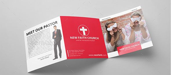 Nice Nice Church Brochure Templates PSD InDesign Church - Church brochure templates