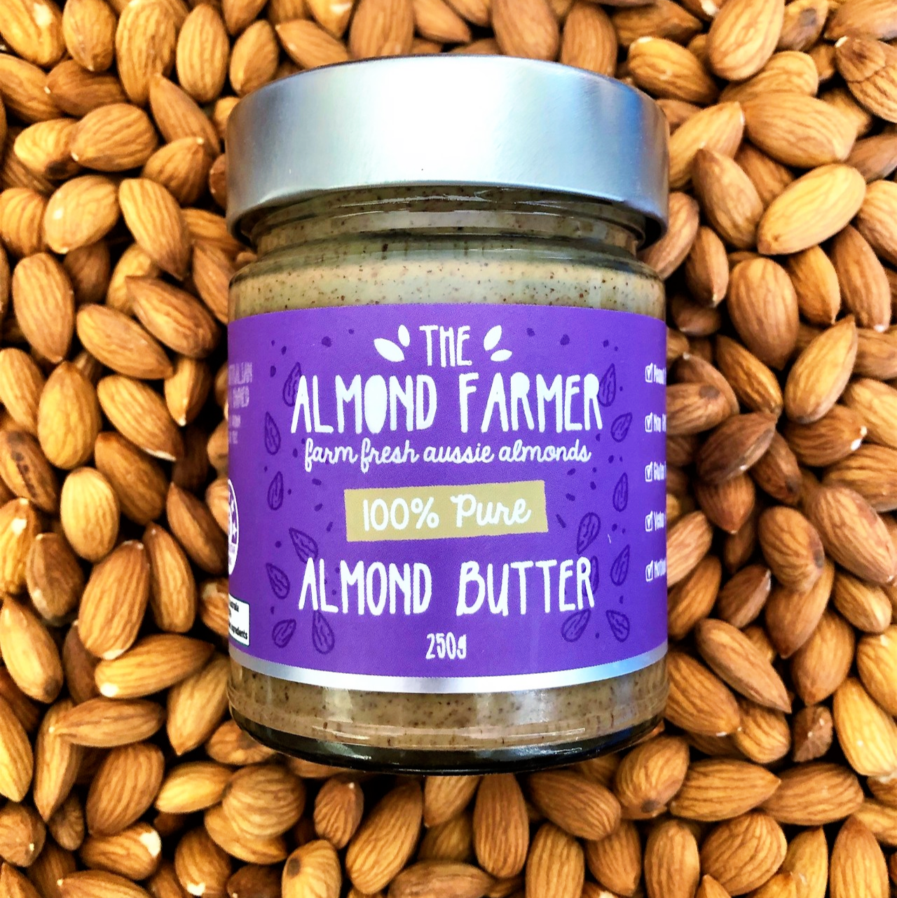 100 Pure Almond butter 💜 . Do you want to know why our