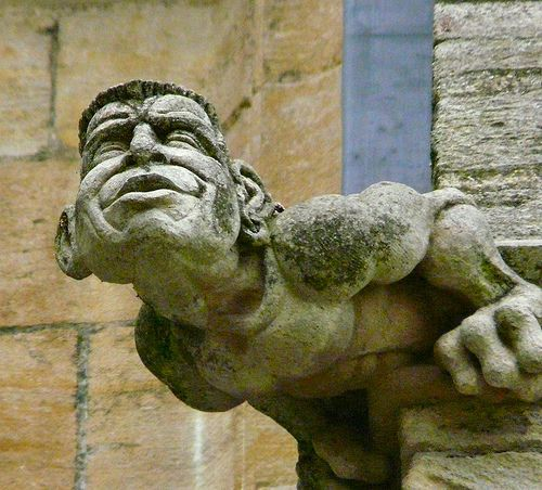 Gargoyle, Ely Cathedral. I can almost hear him stretching and loving it.