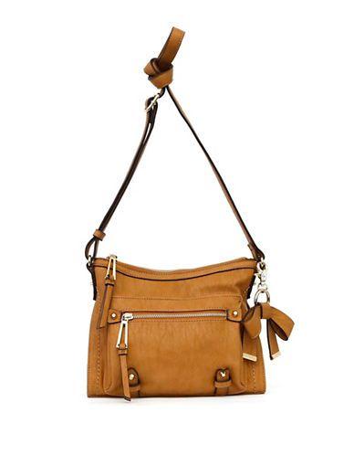 9eab22ee6e6d Jessica Simpson Tatiana Faux Leather Crossbody Bag Women s Cognac ...