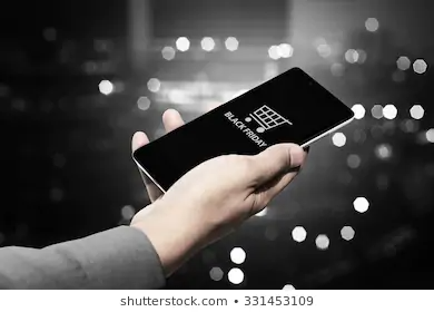 Hand Holding Cellphone Black Friday Text Stock Photo Edit Now 331453109 Black Friday Photo Editing Holding Hands