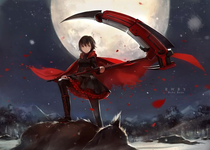 Group of Rwby 2 Red Blood
