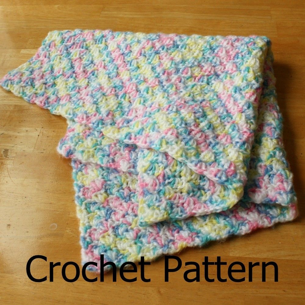 Easy crochet baby blanket, easy crochet pattern, crochet baby ...