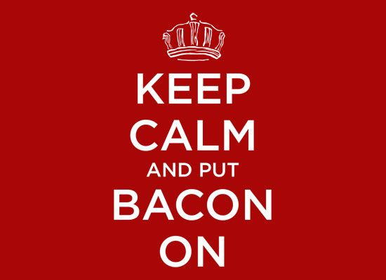 I heart bacon... a great deal too much!