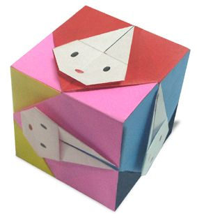 Photo of Origami Rabbit Cube instruction