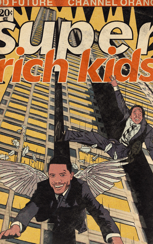 Frank Ocean & Earl Sweatshirt- Super Rich Kids Comic Book T-Shirt - Unisex Heavy Cotton Tee