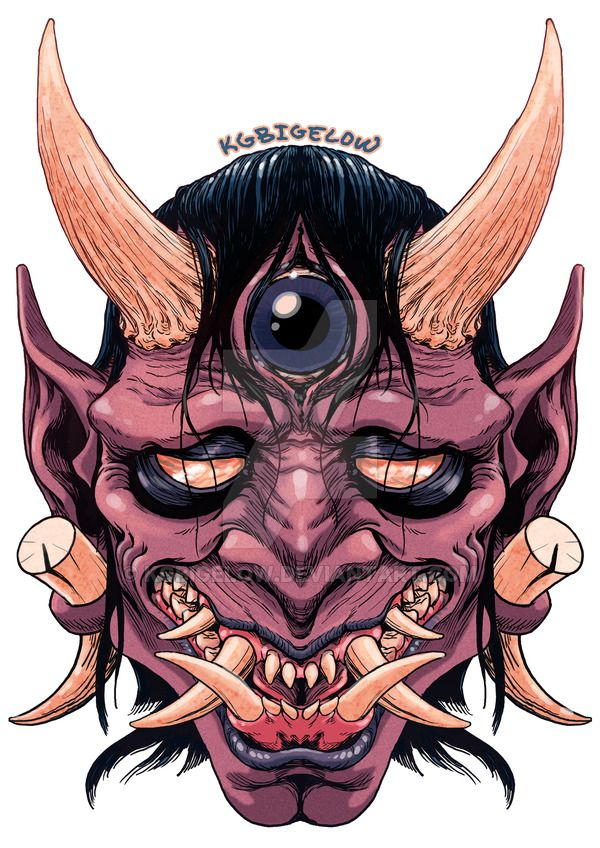 Oni Mask Tattoo: Blind Oni By KGBigelow